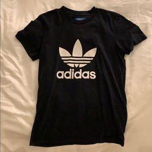 Black Adidas Trefoil Logo Tshirt